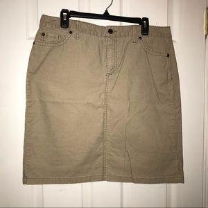 Women's L.L. Bean Corduroy Skirt